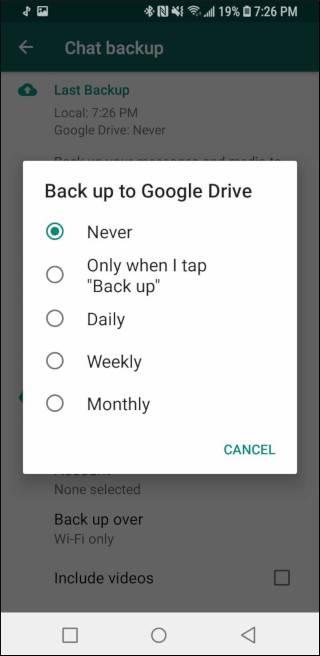چگونگی بکاپ گیری از پیام های واتساپ با استفاده از Google Drive,روشتک,raveshtech