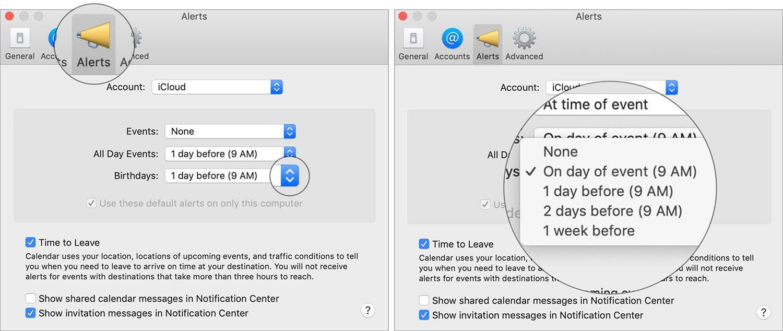 فعال کردن زادروز یا Birthday در تقویم macOS,روشتک,raveshtech
