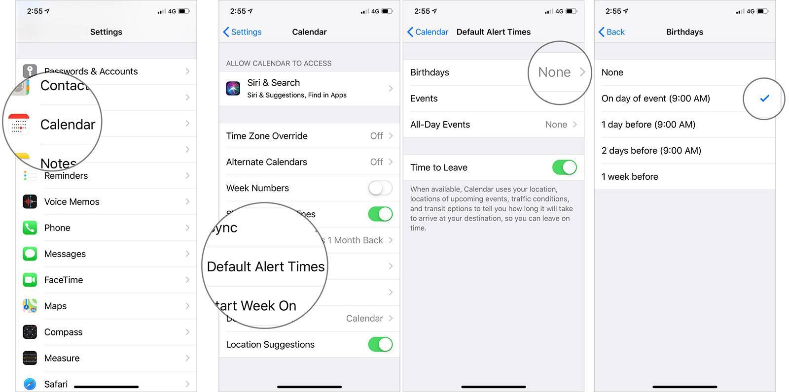 روش تنظیم زمان دریافت alert زادروز یا Birthday در آیفون و آیپد