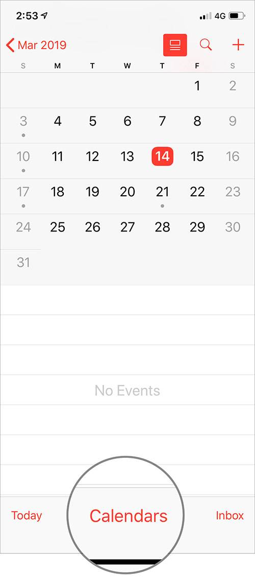 فعال کردن زادروز یا Birthday در Calendar آیفون و آیپد