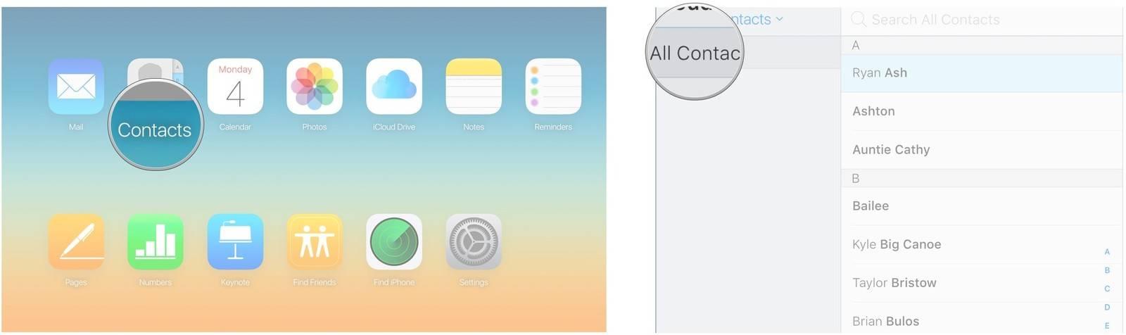 روش export کردن مخاطبین آیفون با استفاده از iCloud,روشتک,raveshtech