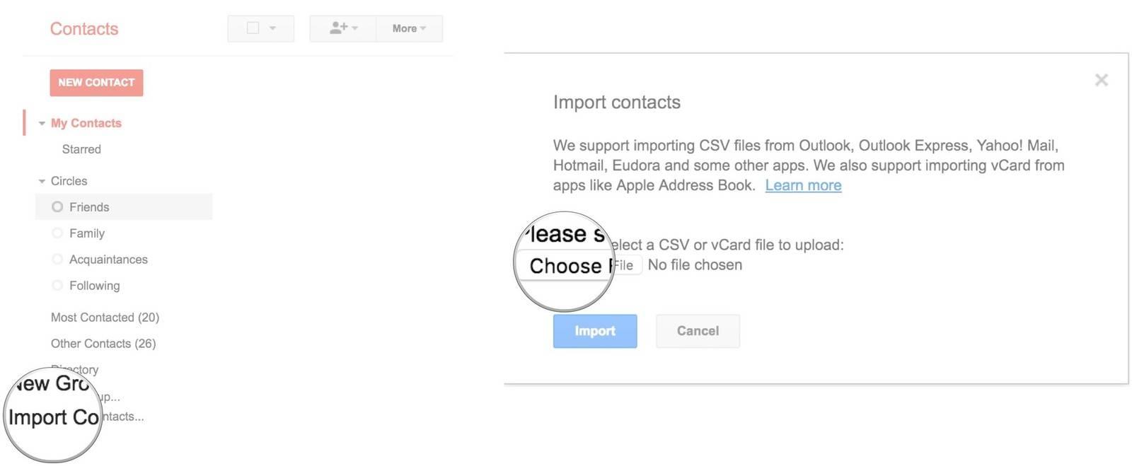 روش import کردن مخاطبین با استفاده از Google Contacts,روشتک,raveshtech