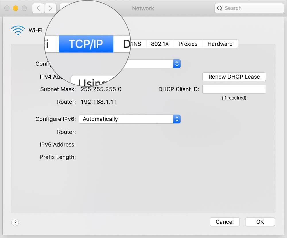 روش یافتن IP Address روتر در بخش System Preferences مک