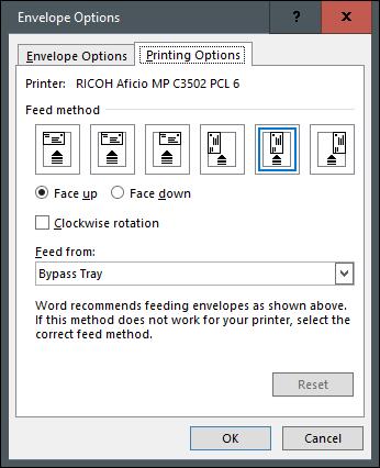 طراحی و پرینت پاکت نامه در برنامه Microsoft Word,روشتک,raveshtech