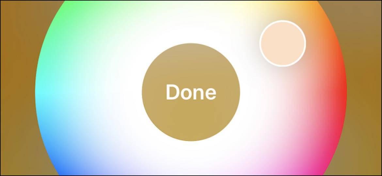 تصویر تغییر رنگ چراغ های برنامه Home در آیفون و آیپد
