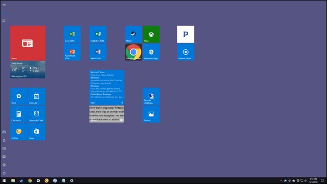 استفاده از منوی Start پُر-اِسپَر یا Full-Screen در ویندوز 10