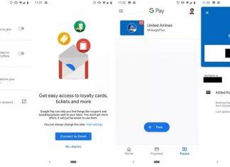ورود خودکار کارت ها و بلیط های وفاداری از Gmail در Google Pay