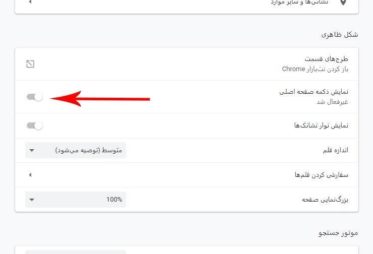 چگونه دکمه Home Page گوگل کروم را غیرفعال و پنهان کنیم؟,روشتک,raveshtech