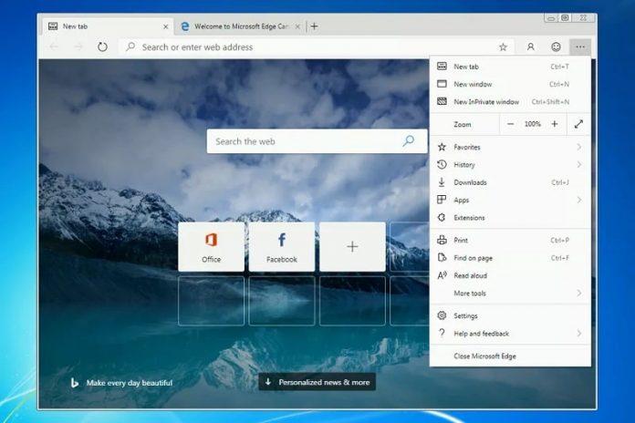 مرورگر مایکروسافت Edge برای ویندوز 7 و ویندوز 8