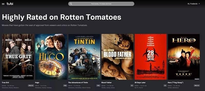 بهترین سرویس دهنده پخش فیلم رایگان Tubi Tv Movies