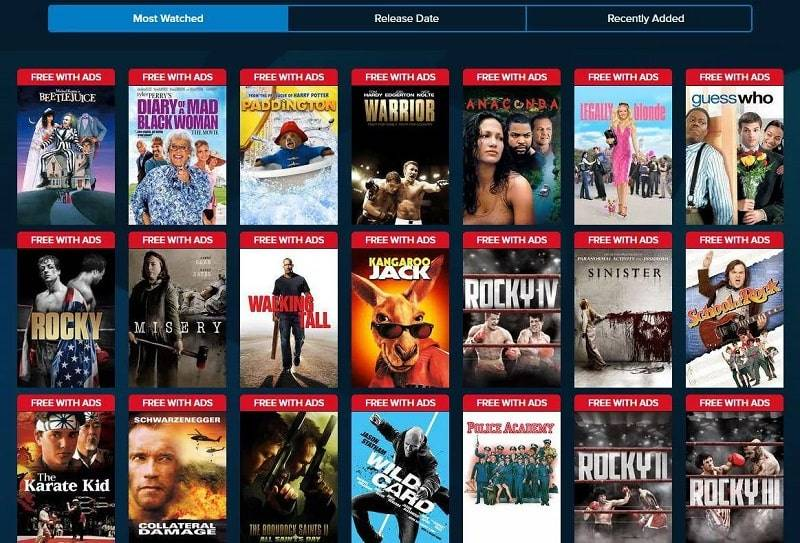 بهترین سرویس دهنده پخش فیلم رایگان Vudu Free Movies