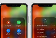 دسترسی سریع به شبکه های WiFi در آیفون iOS 13, وایفای آیفون, تغییر Wifi آیفون, وایفای iOS 13, Control Center آیفون, روشتک,raveshtech, ترفندهای آیفون, شبکه وایفای آیفون,