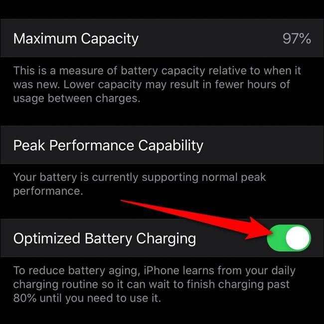 فعال کردن بهینه سازی شارژ باتری در آیفون, شارژ باتری آیفون, باتری آیفون, بهینه سازی شارژ باتری, روشتک,raveshtech, ترفندهای آیفون, آموزش آیفون