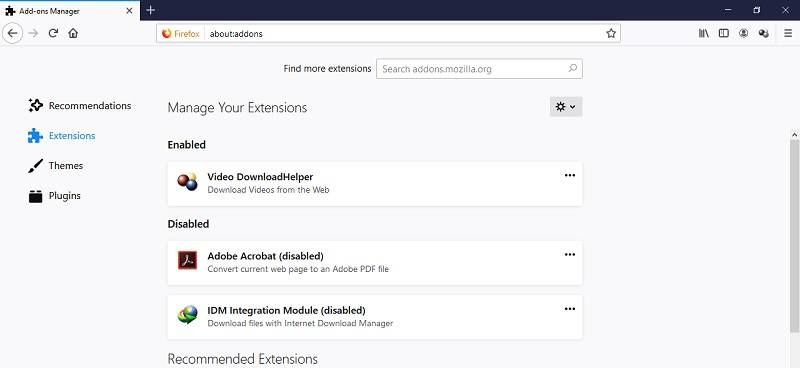 افزونه های مرورگر موزیلا فایرفاکس,مدیریت افزونه های مرورگر موزیلا فایرفاکس,روش حذف افزونه فایرفاکس,اکستنش مرورگر فایرفاکس,مروگر موزیلا فایرفاکس