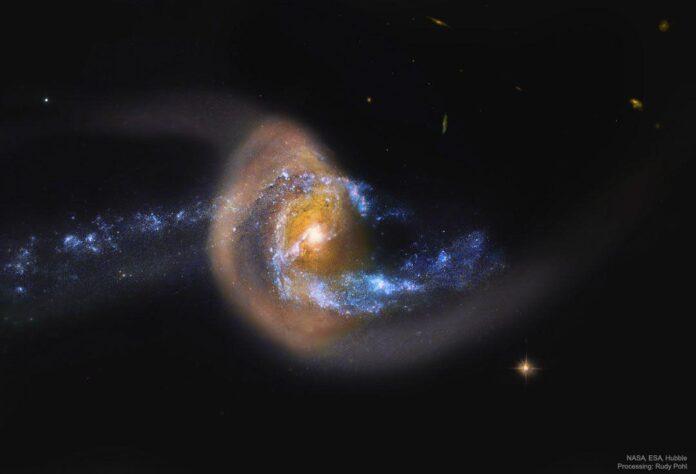 تصویر هابل از برخورد دو کهکشان