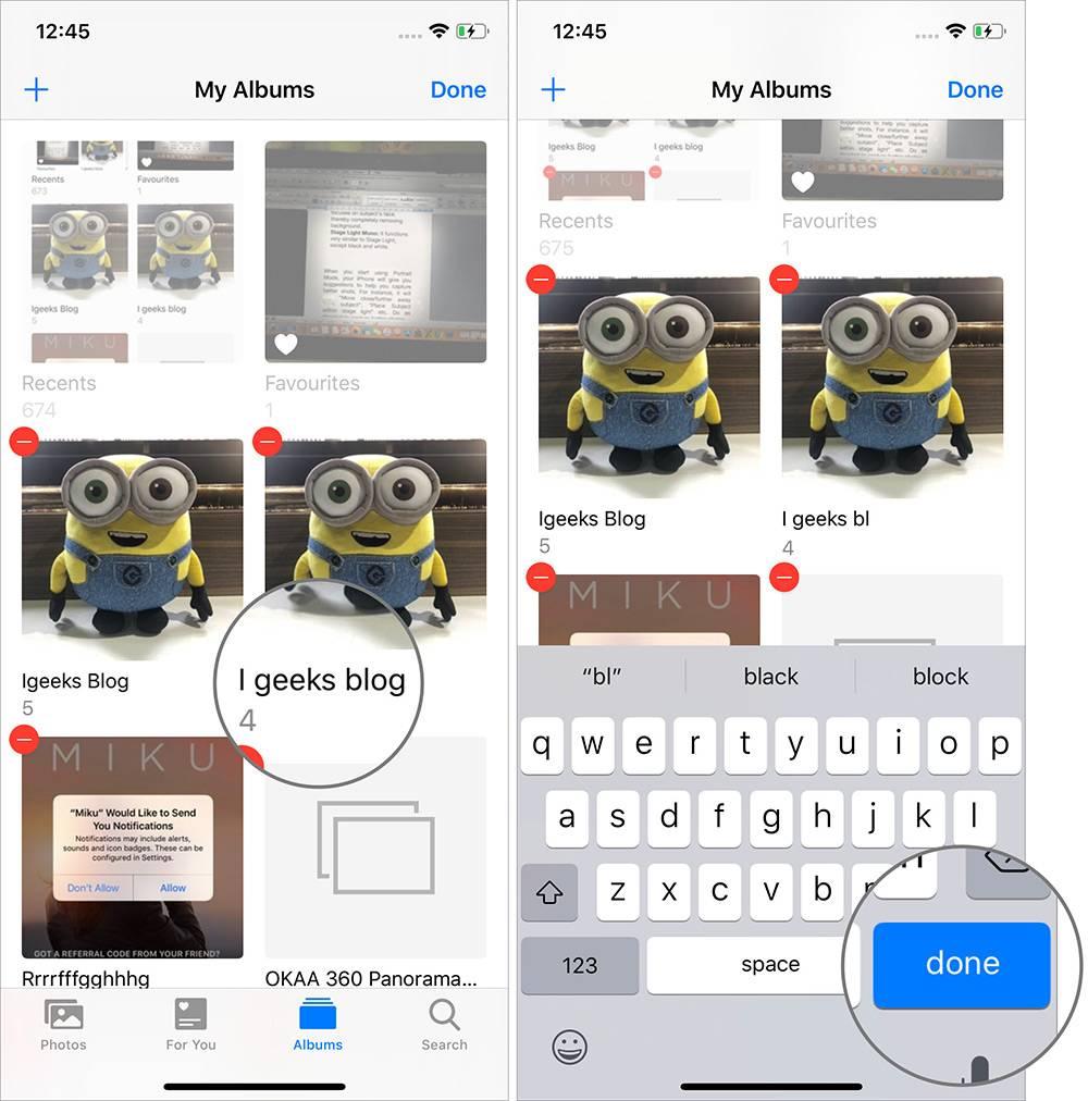 روش تغییر نام و حذف آلبوم آیفون iOS 13