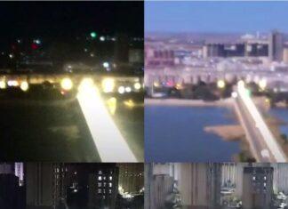 پدیدار شدن شهاب سنگ در آسمان شب چین