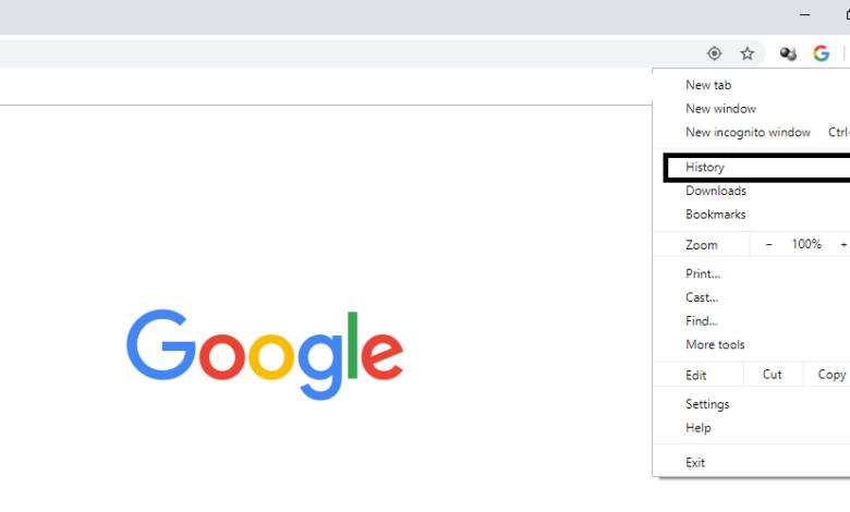 روش حذف سابقه جستجو در مرورگر گوگل کروم دسکتاپ