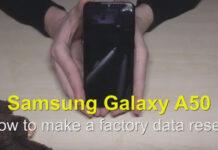 روش ریست فکتوری در گوشی گلکسی A50,پاک کردن تمامی فایل ها در گوشی گلکسی A50,Hard Reset گلکسی A50,گوشی Galaxy A50 سامسونگ,ریست فکتوری گلکسی A50