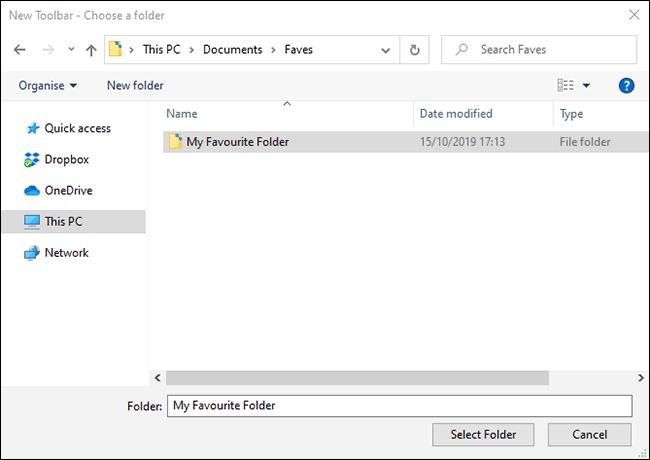 در پنجره باز شده، پوشه یا فولدر دلخواه خود را یافته، آن را انتخاب کرده و دکمه Select Folder را کلیک کنید.