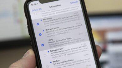 روش مدیریت ایمیل های آیفون با تپ دو-انگشتی