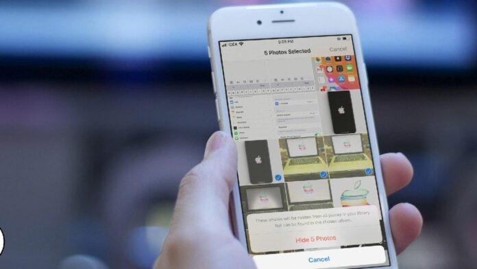 روش پنهان کردن عکس و فیلم در آیفون iOS 13