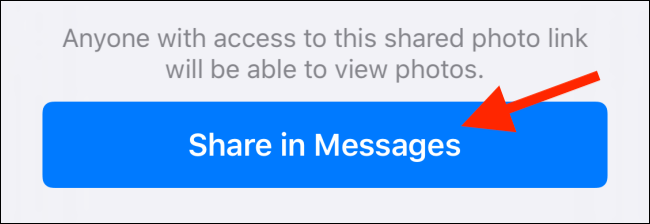 Share in Messages