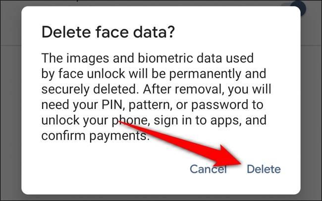غیر فعال کردن ویژگی تشخیص چهره پیکسل 4 گوگل