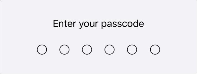 password یا passcode آیفون یا آیپد خود را وارد کنید