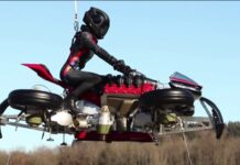 موتورسیکلت پرنده LMV 496 لازارت ، نخستین موتور سیکلت پرنده جهان