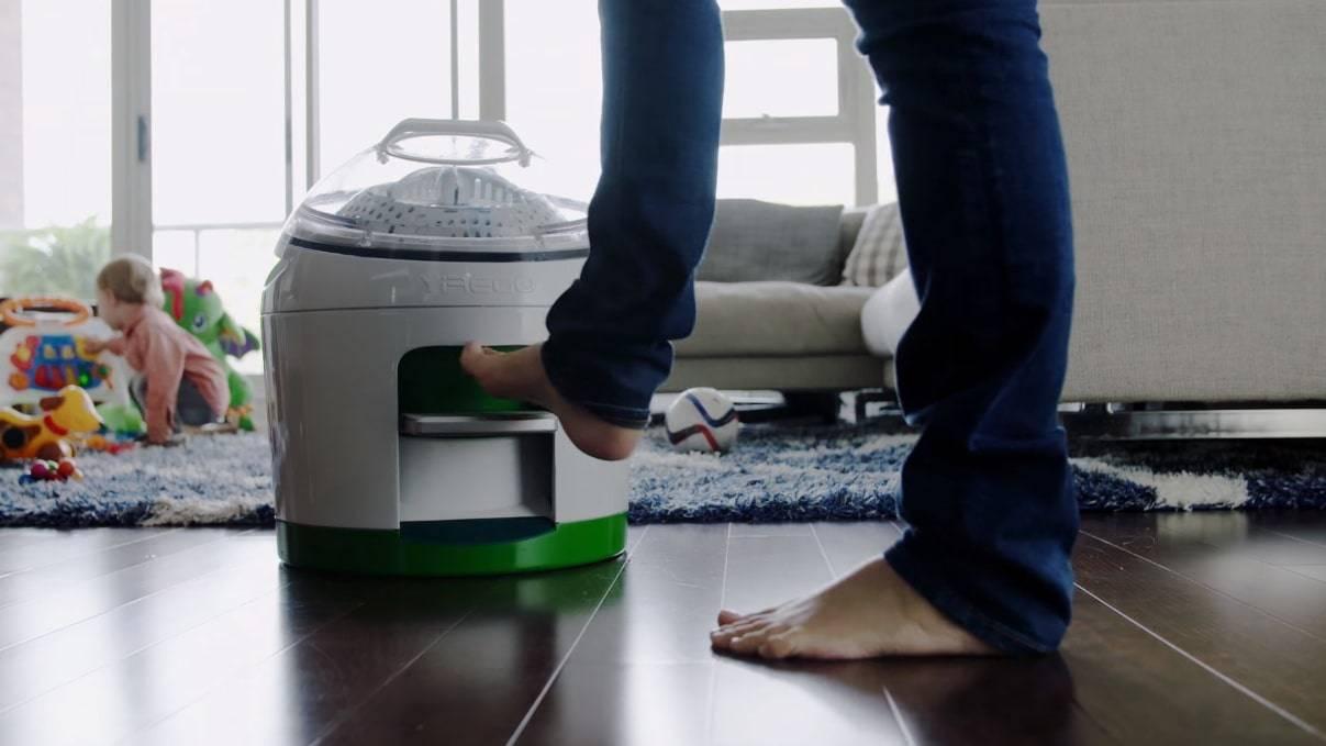 تصویر ماشین لباس شویی پدالی Drumi دستگاهی بدون نیاز به برق