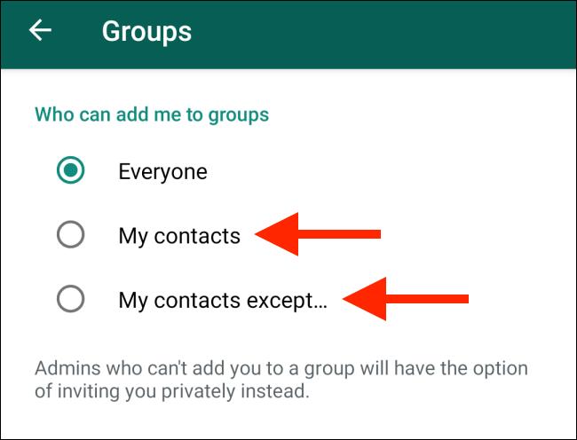 خش Who Can Add Me to Groups یا کسانی که می توانند مرا به گروه ها اضافه کنند