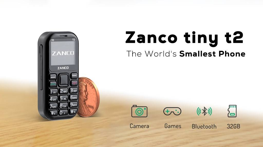 Photo of Zanco Tiny T2 کوچکترین گوشی 3G جهان برای مواقع اضطراری