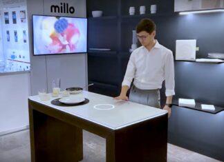 میز آشپزخانه هوشمند Millo همانند یکی گوشی هوشمند و بدون دکمه کار می کند