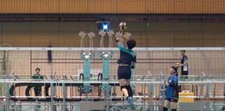 ساخت دفاع رباتیک روی تور والیبال در دانشگاه تسوکوبای ژاپن
