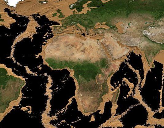 خشک شدن آب دریاها در انیمیشن ناسا