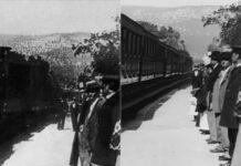 فیلم 4K ورود لوکوموتیو بخار به ایستگاه لسیوته که در سال 1896