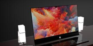 iMac Pro خمیده شیشه ای اپل و تصاویر رندر شده آن توسط جرمین اسمیت