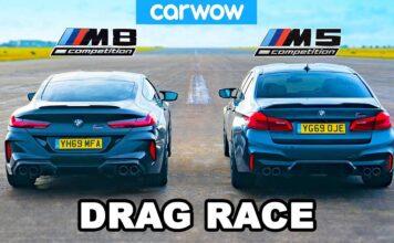 مسابقه سرعت کامپتیشن M5 و کامپتیشن M8 کمپانی خودروسازی BMW