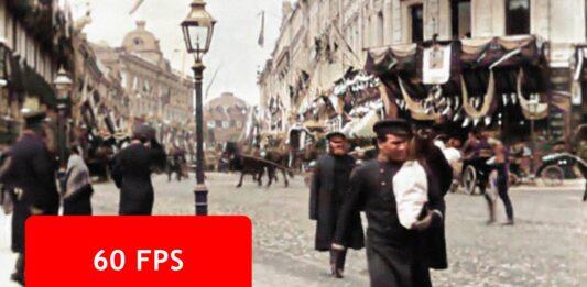 فیلم رنگی خیابان تراورسایا مسکو در 1896 که با هوش مصنوعی بهبود یافته