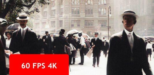 فیلم رنگی شده 4K از خیابانهای نیویورک سال 1911 که با هوش مصنوعی پردازش شده