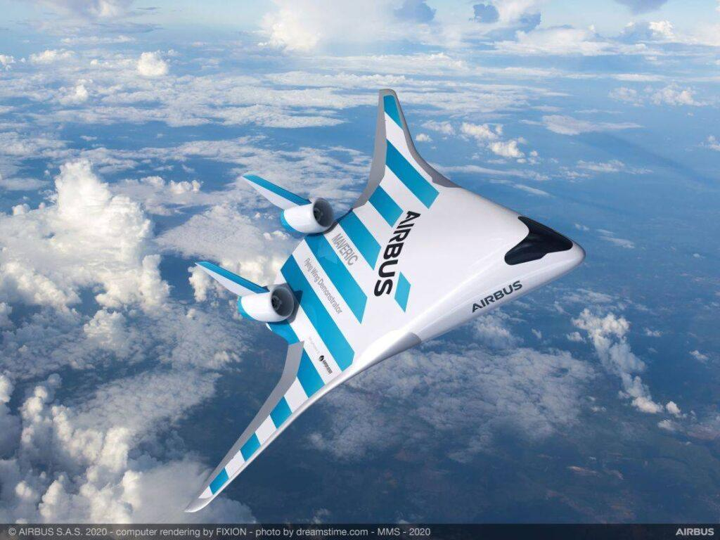 Airbus MAVERIC Blended Wing Body Aircraft Revealed