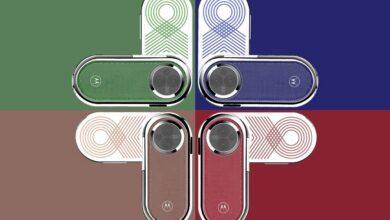 گوشی موتورولا Revolve با دو نمایشگر OLED و روکش چرمی