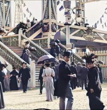 سفری به پاریس در 1890 با کیفیت 4K که توسط هوش مصنوعی پردازش شده