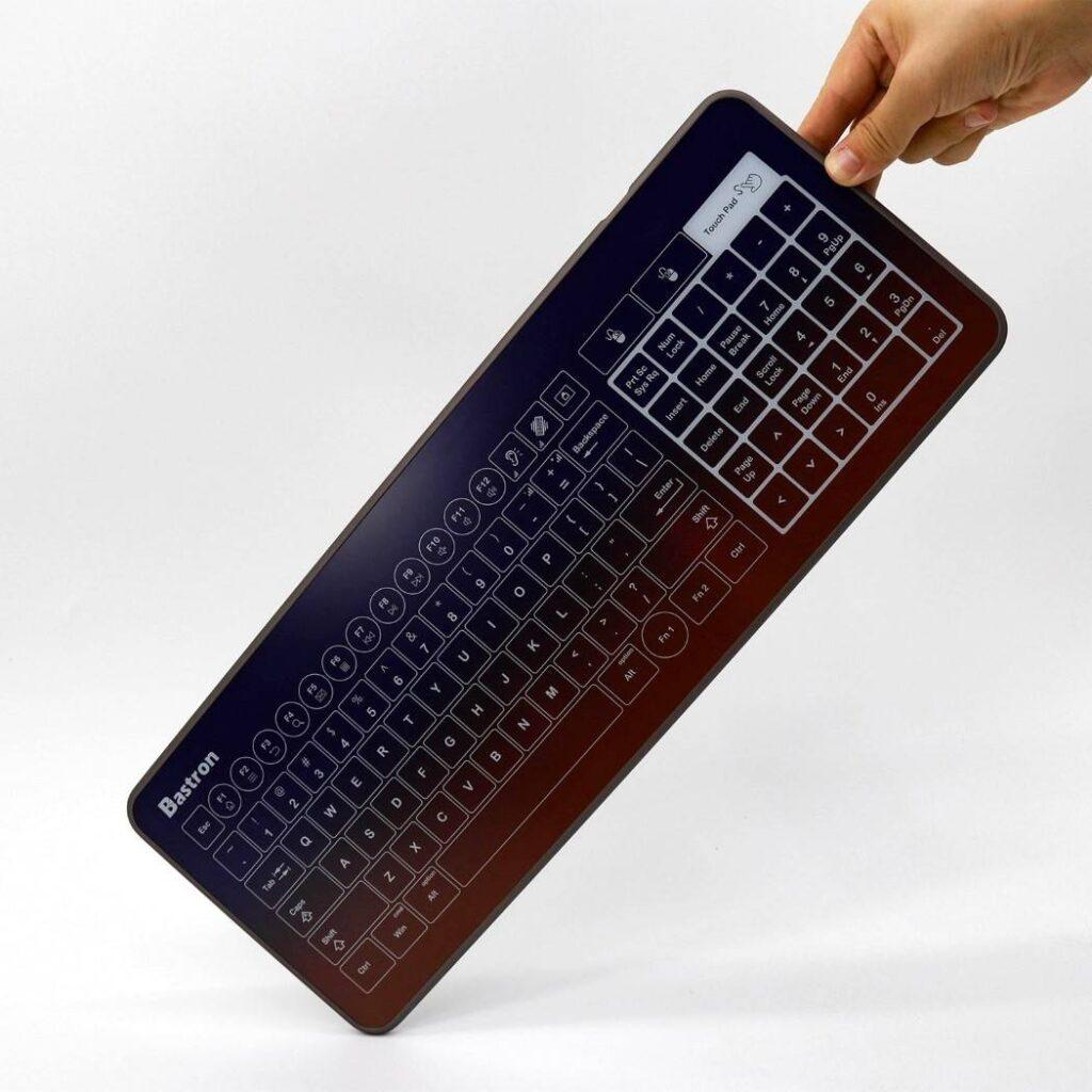 Bastron B10 Glass Touch Keyboard Aims to Keep Things Clean