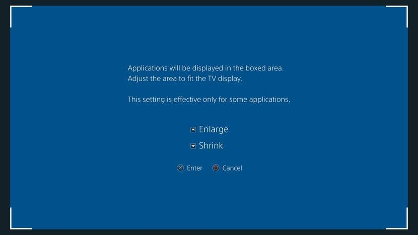 How to adjust your display area on PS4
