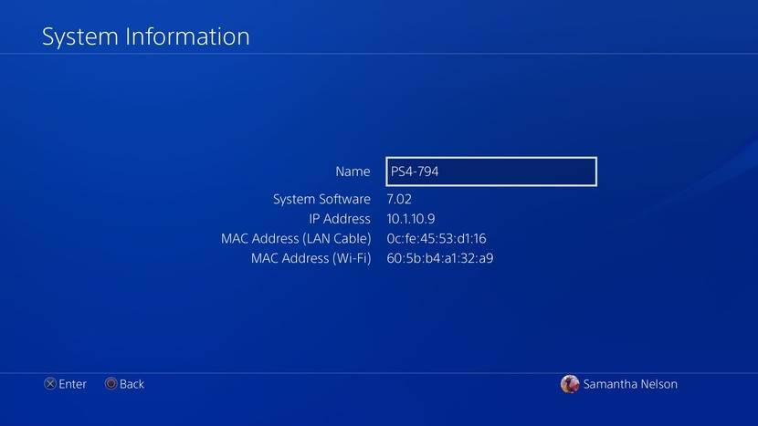 پیدا کردن ورژن Firmware مورد استفاده در PlayStation 4