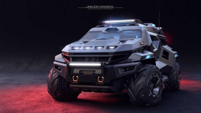 کانسپت Armortruck SUV ، شاسی بلندی متاریستیک