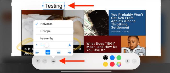 روش اسکرین شات گرفتن قلم آیپد و ویرایش و یادداشت نویسی در آن | افزودن متن به اسکرین شات در آیپد