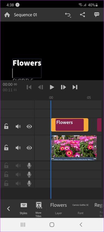 برنامه Adobe Premiere Rush